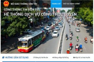 Bộ GTVT tiếp tục dẫn đầu xếp hạng dịch vụ công trực tuyến