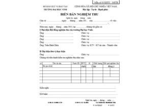 Mẫu số 03/KHTC - MSTB : Biên bản nghiệm thu